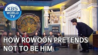 How Rowoon pretends not to be him [Happy Together/2020.01.23]