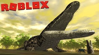 Crocodile family, attack the antelope!! Lions territory! | ROBLOX (Wild Savannah) | (PT/BR)
