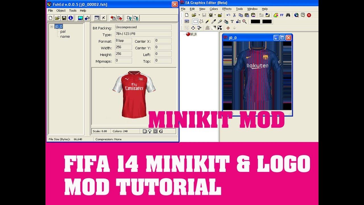 Fifa 14 Android Minikits & Logo Modding Tutorial | Readable