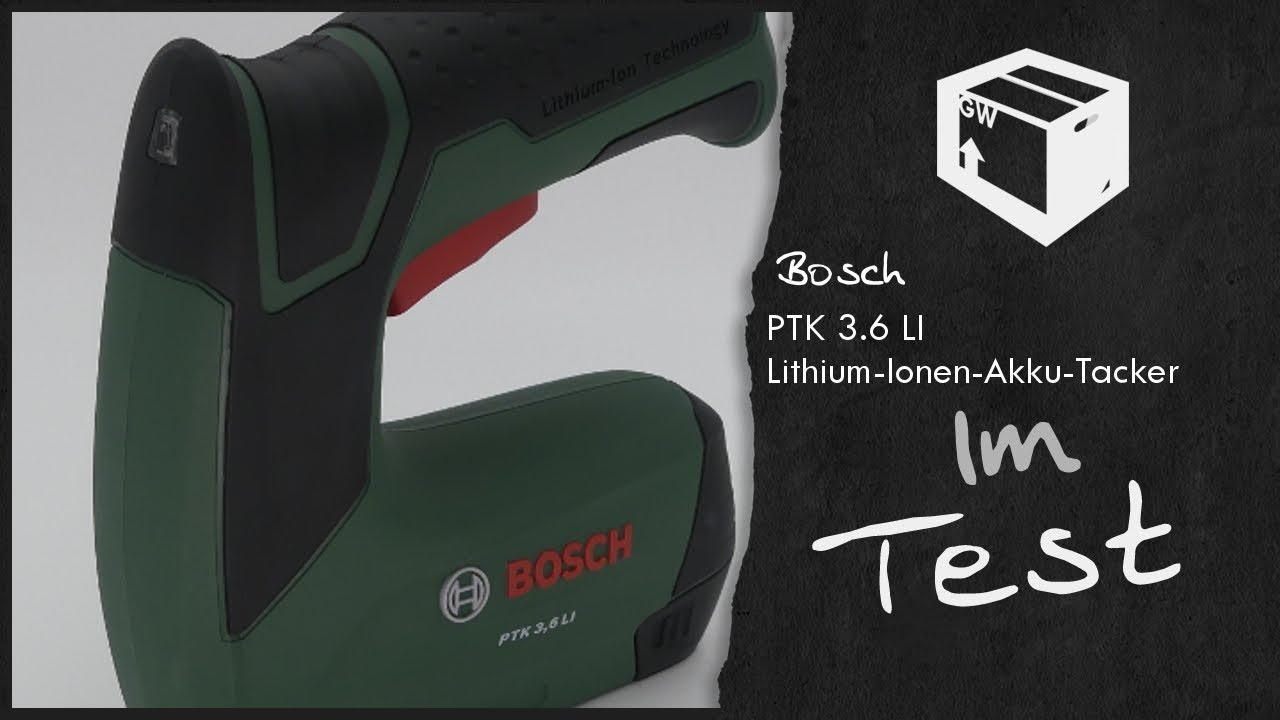 bosch elektro akku tacker ptk 3 6li tacker im test 2017 unboxing deutsch youtube. Black Bedroom Furniture Sets. Home Design Ideas