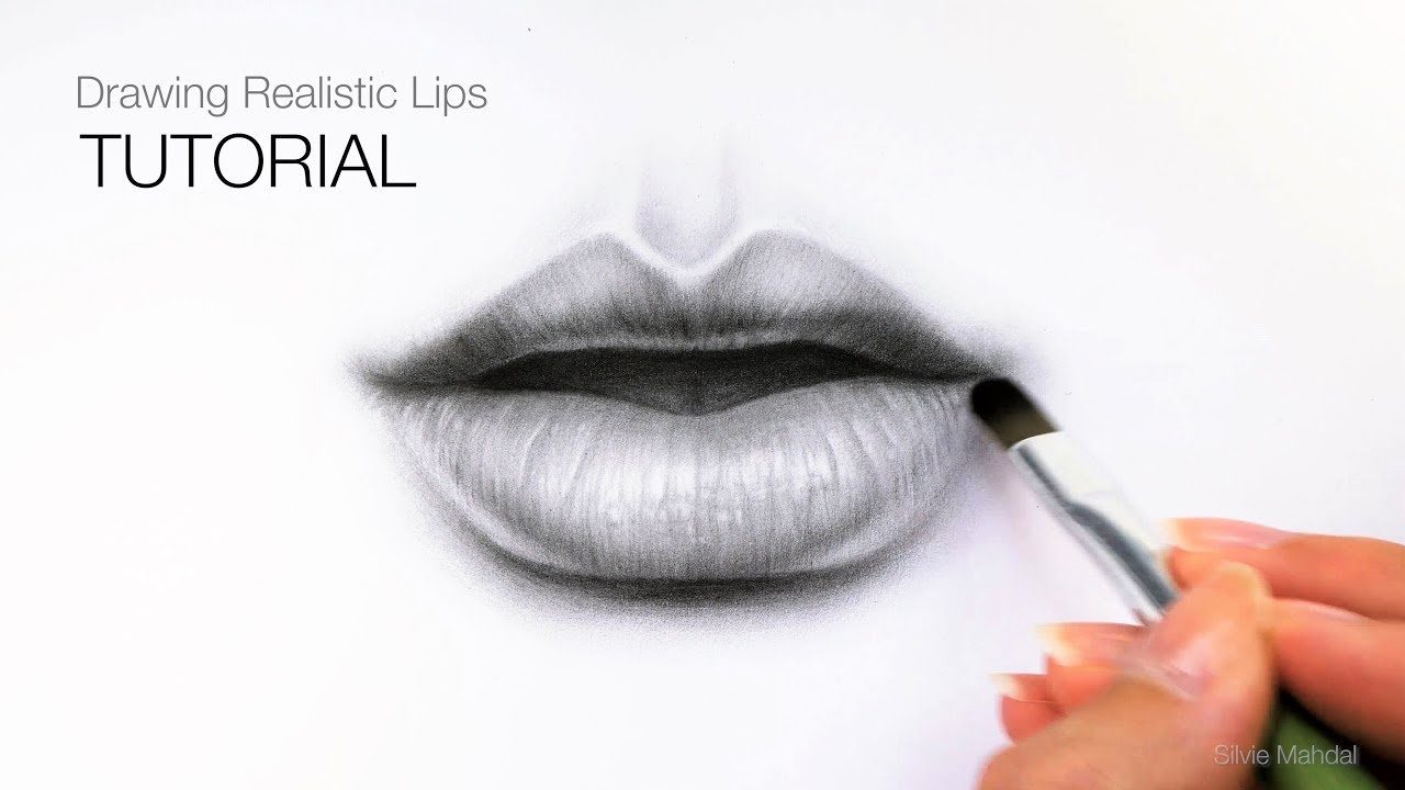 How to draw realistic lips mouth