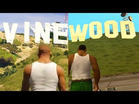 GTA San Andreas vs GTA 5!