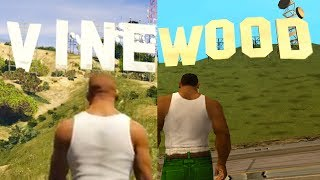 GTA San Andreas vs GTA 5!