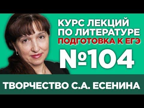 С.А. Есенин (анализ тестовой части)   Лекция №104