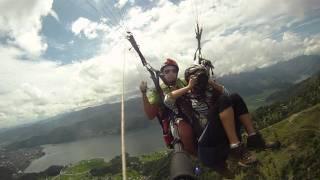 Paragliding above Phewa Lake, Nepal (Taking off) Sep 2011(, 2011-10-07T22:00:33.000Z)