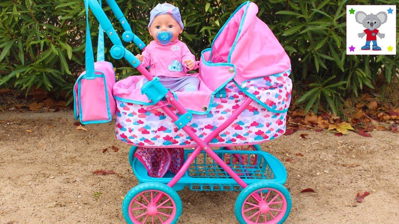 260398e74 NUEVO CARRO DE PASEO de la Bebé BABY BORN y Preparo el Bolso Cambiador o  Pañalera para ir al Parque