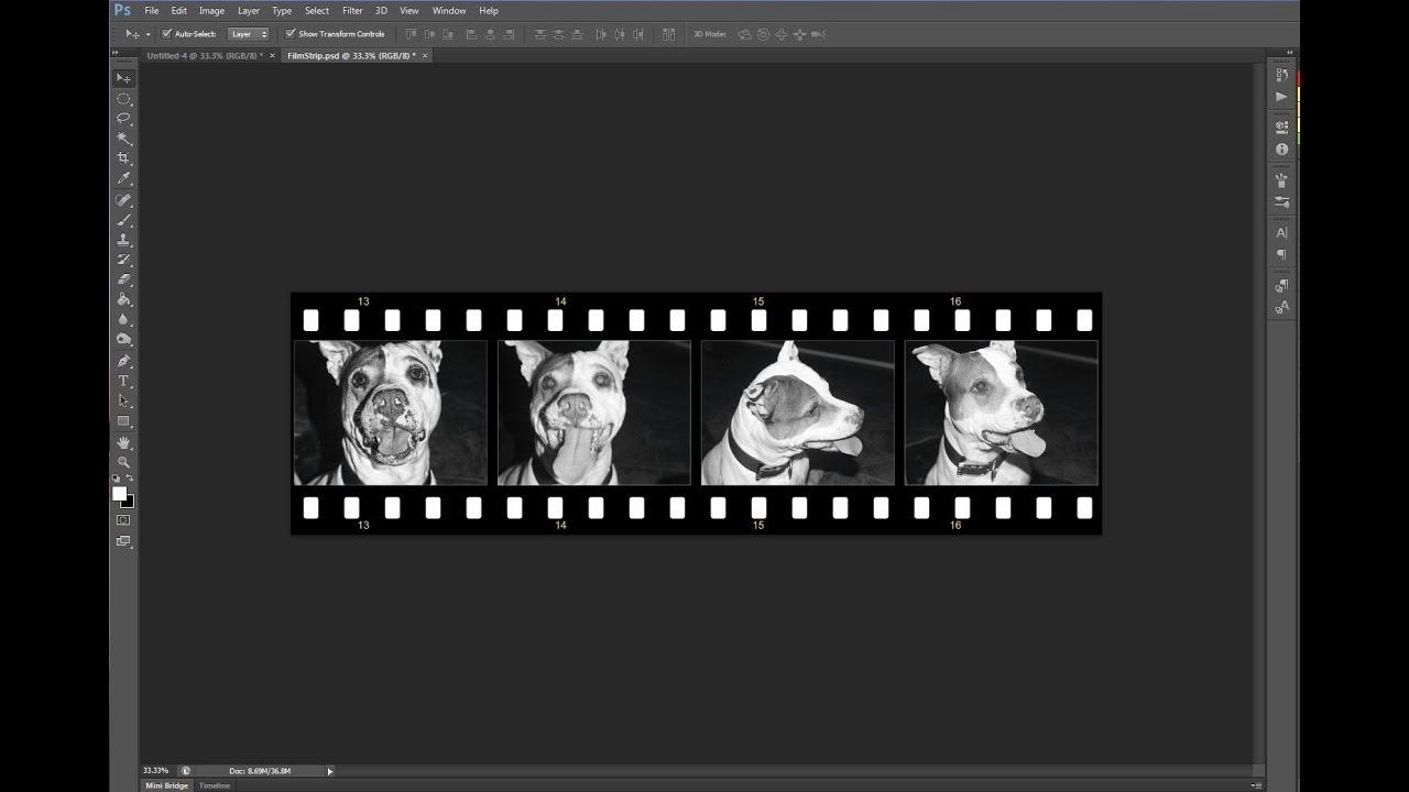 Free Film Strip Template Photoshop Youtube