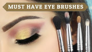 (मेकप ब्रश फ़ोर आईस) Must Have Brushes for Professional Blended Eye Makeup | Deepti ghai sharma