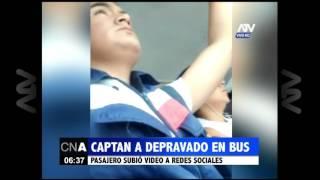 Captan a depravado en un bus de transporte público