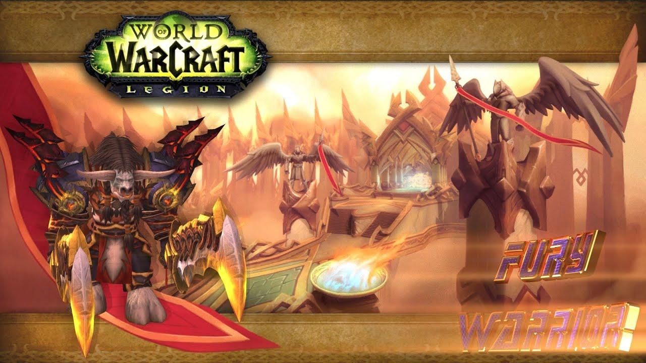 wow legion beta the first follower fury warrior 2160p youtube