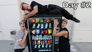 Last To Leave Vending Machine, WINS everything Inside