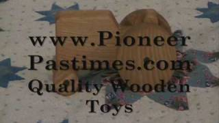 Antique Sounding Wooden Toy Tractor