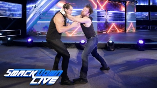 Baron Corbin attacks Dean Ambrose: SmackDown ...