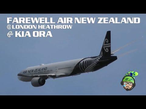 BIG JET TV UPDATE: Live from London Heathrow - Farewell Air New Zealand
