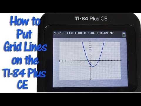 TI 84 Plus CE How To Make Grid Lines Look Like Graph Paper