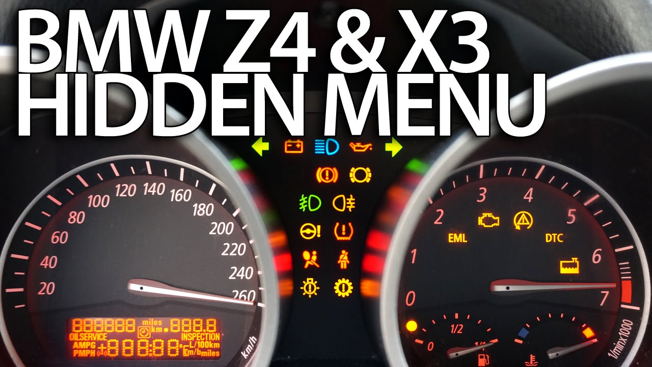 hight resolution of how to enter hidden menu in bmw z4 e85 e86 x3 e83 service test mode instrument cluster youtube