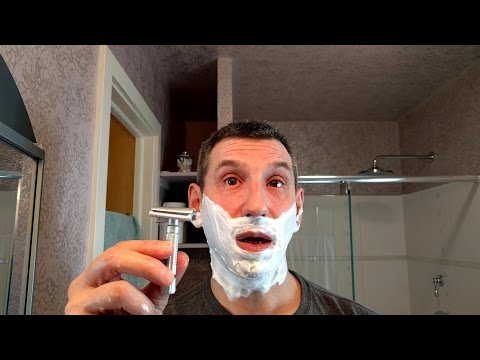Fine Superlite Slant, Figaro Monsieur shave soap, Barrister and Mann Cologne Russe aftershave