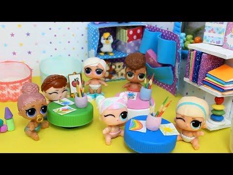 видео: Куклы лол. Детский садик мультик с куклами lol surprise mc family