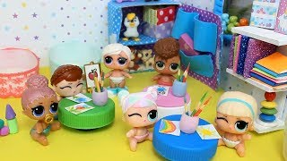 Куклы лол. Детский садик мультик с куклами LOL Surprise MC Family