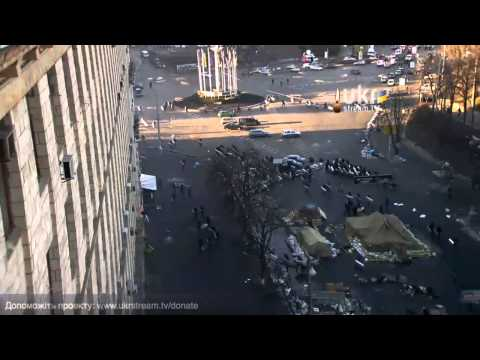 Police Assault on Protesters in Kiev, Ukraine, 18 February 2014