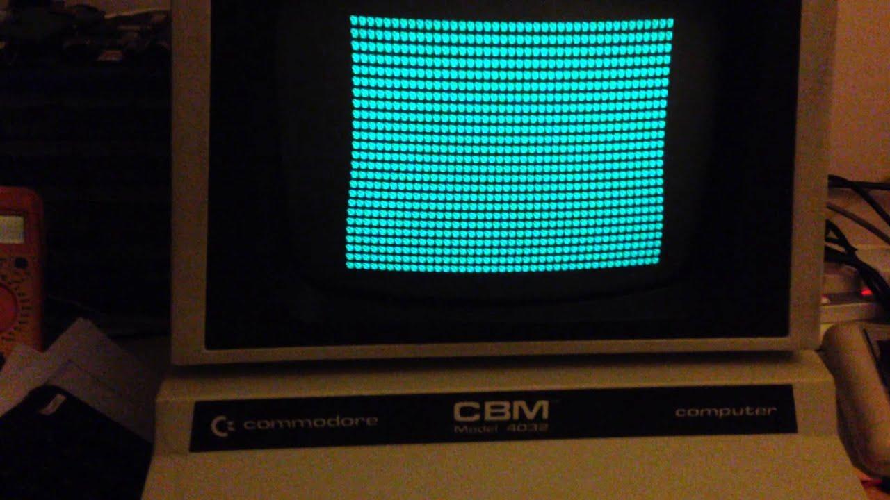 Commodore Pet pettester.bin running - YouTube