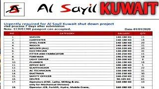 Jobs In Kuwait 2020 || Salary Upto 280 Kuwaiti Dinar || CV Selection || By Gulf Expert