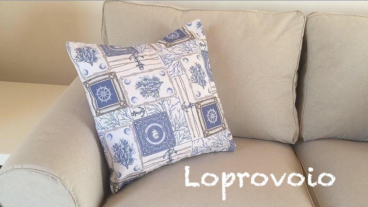 Cucire Cuscino Senza Cerniera federa senza zip - how to sew envelope pillow