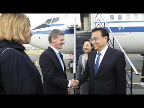 Chinese Premier Li Keqiang arrives in New Zealand for official visit