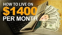 How to Live on $1400 per month
