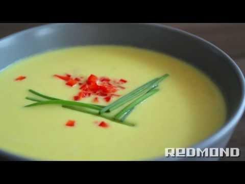 Сырный суп в мультиварке с