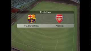 Jogando Winning eleven 9(PES 5) PC Barcelona x Arsenal