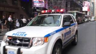 COMPILATION OF NYPD POLICE UNITS RESPONDING IN VARIOUS NEIGHBORHOODS OF NEW YORK CITY.  24