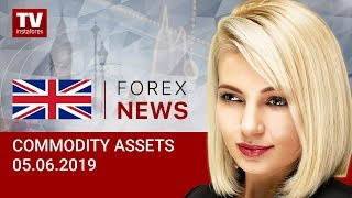 InstaForex tv news: 05.06.2019: RUB and oil benefit from improving US relations with other countries (Brent, RUB, USD)