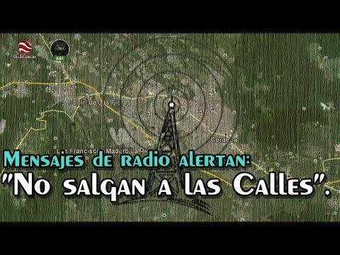 Por radio en Córdoba y Orizaba difunden mensajes invitando a no salir en las noches.