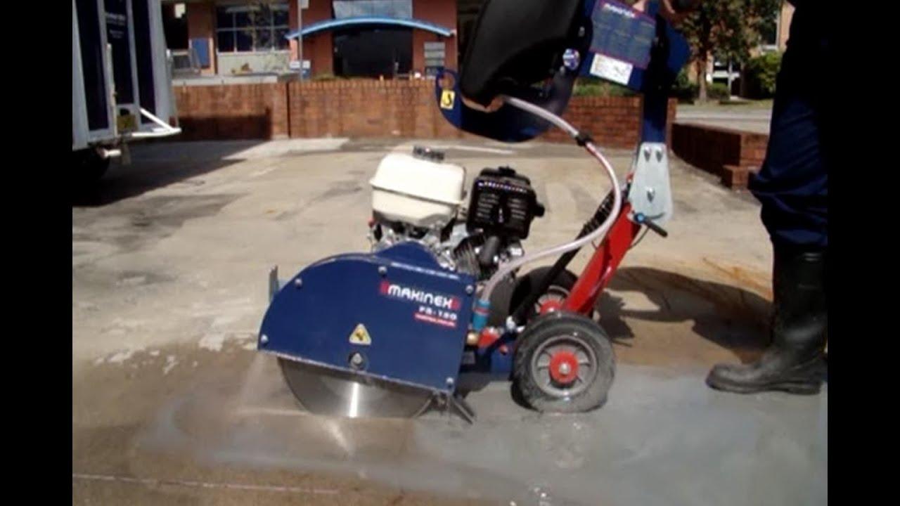 Petrol Floor Saw Concrete Cutting Demonstration