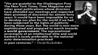 Rockefeller - New World Order Quotes
