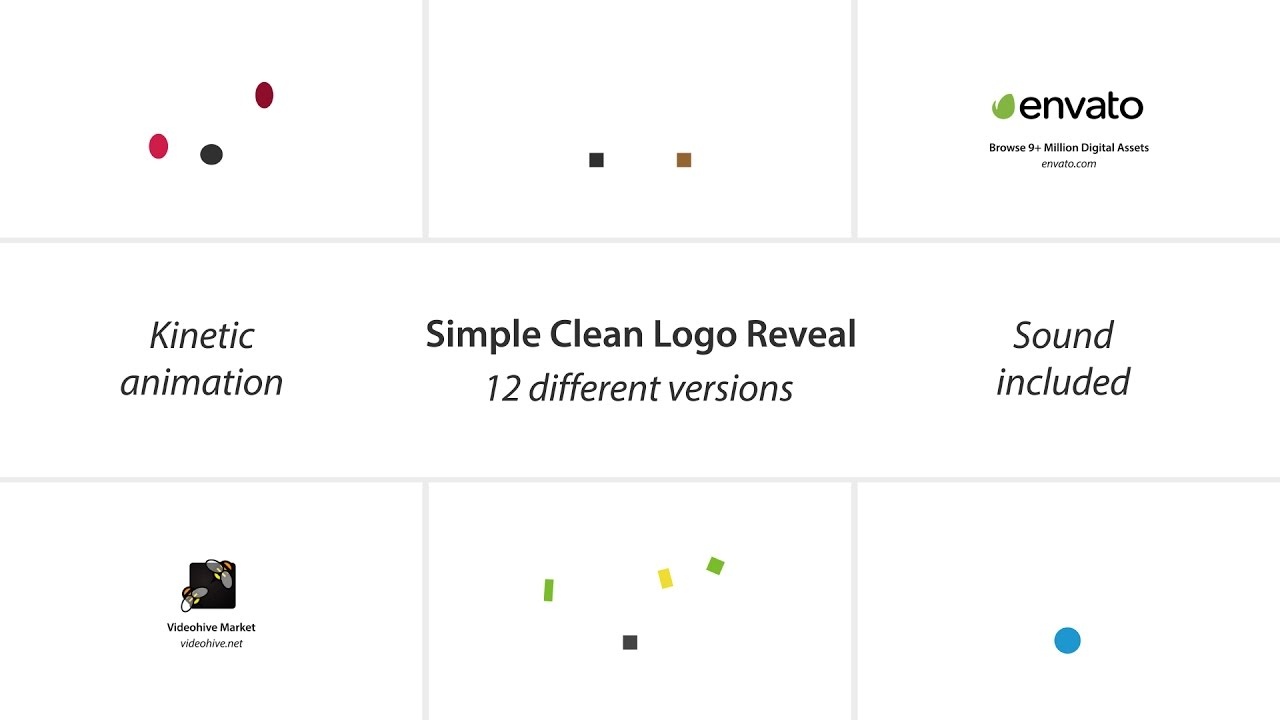 simple clean logo reveal pack sound included after effects simple clean logo reveal pack sound included after effects template