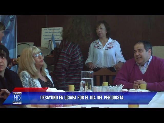 José Amundarain UCIAPA agasajó a periodistas con un desayuno y reconocimientos