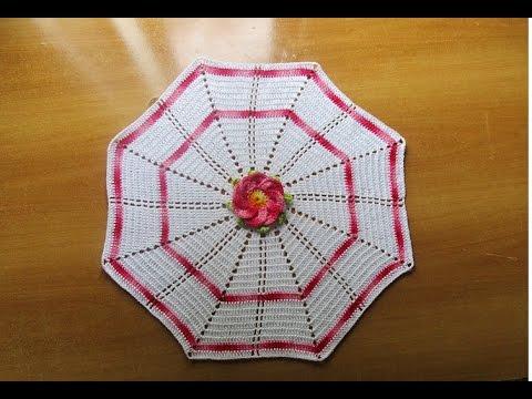 Centro tavola uncinetto crochet youtube - Centro tavolo all uncinetto ...