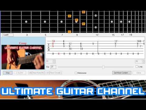 Guitar Solo Tab Creep Radio Head Youtube