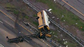 Student and teacher killed, dozens injured in New Jersey school bus crash