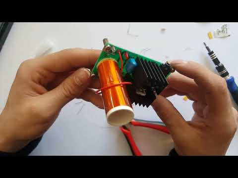 DIY Kit 15-24V/2A 15W Mini Tesla Coil Plasma Electric Arc Electronic DIY Kit Music Play