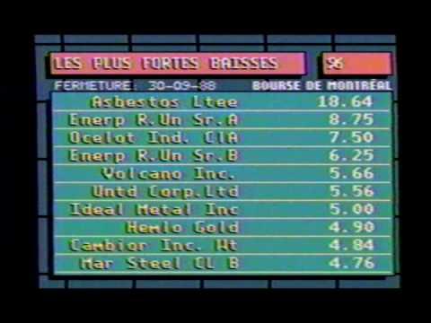 Bourse 1988