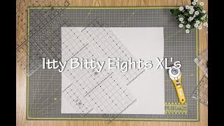 Creative Grids Charming Itty-Bitty Eights Rectangle XL 8in x 24in Quilt Ruler