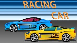 Racing Car   Cartoon Cars   Kids Game Play