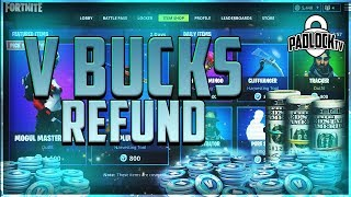 How to REFUND For V-Bucks // Refund Skins //  // FORTNITE TIPS & TRICKS
