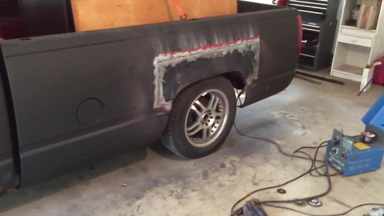Silverado Rust Repair on Wheel Arch - Welding Inserts ...