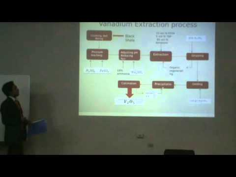 Vanadium Extracion, Francisco Valenzuela, Presentation