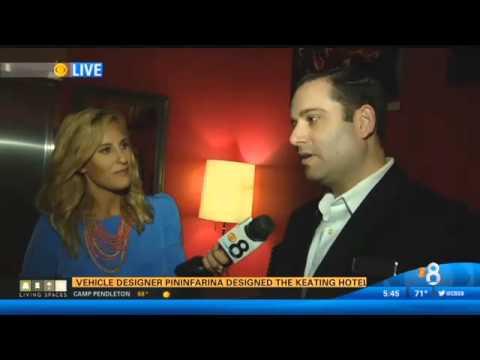 CBS News 8 San Diego CA - The Keating Hotel (segment 1)