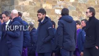 Italy: 'Only one captain' - Stars bid farewell to Fiorentina's Astori